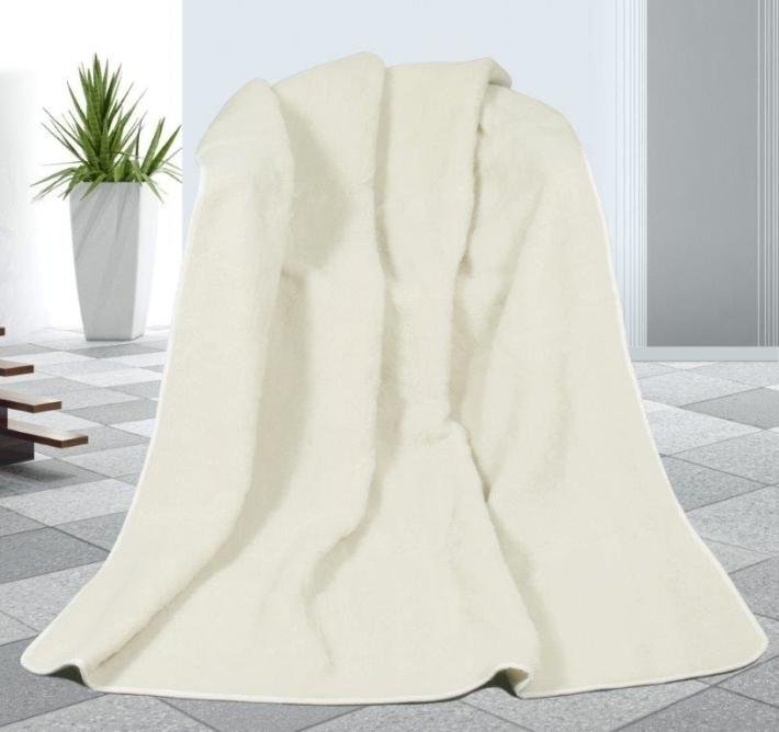 Vlněná deka DUO 155x200cm bílý beránek 520g/m2- Australské merino