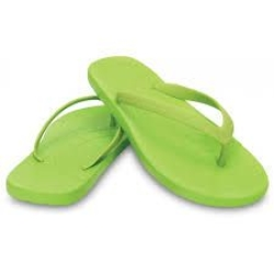 CROCS CHAWAII FLIP J1 32-33 / VOLT GREEN