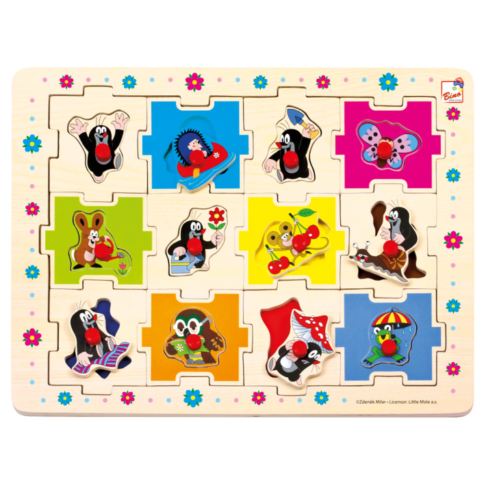 Bino Puzzle Krteček tvary 24 dílků