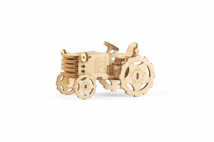 Dřevěné 3D puzzle traktor