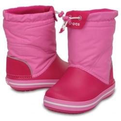CROCS KIDS Crocband LodgePoint Boot J1 32-33 /Candy Pink/Party Pink