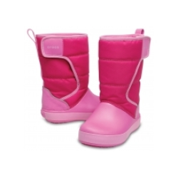 CROCS LodgePoint Snow Boot J1 32-33 / Candy Pink/Party Pink